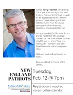 The Super Bowl History  of the  New England Patriots  with Jerry Thornton
