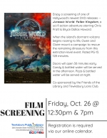 Film Screening: Jurassic World -- Fallen Kingdom