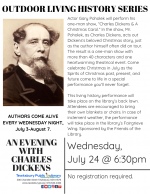 OUTDOOR LIVING HISTORY SERIES: An Evening with Charles Dickens