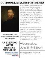 OUTDOOR LIVING HISTORY SERIES: An Evening with Herman Melville