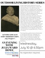 OUTDOOR LIVING HISTORY SERIES: An Evening with Julia Ward Howe