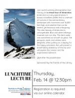 Lunchtime Lecture: Armchair Travel -- Explore Antarctica