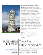Lunchtime Lecture: Armchair Travel -- Explore Europe