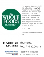 Lunchtime Lecture: Re-Think Your Plate with Whole Foods Market