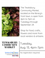 CANCELLED: Tewksbury Community Market