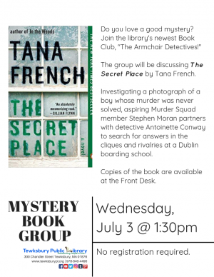 07/03/2019 | The Armchair Detectives Mystery Book Group: The