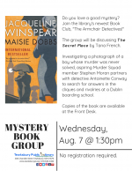The Armchair Detectives Mystery Book Group: Maisie Dobbs