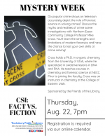 MYSTERY WEEK: CSI -- Fact vs. Fiction