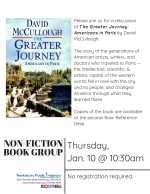 Non-Fiction Book Group: The Greater Journey