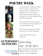 POETRY WEEK: An Afternoon of Poetry with 4 Local Poets