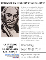 Tewksbury History Comes Alive: An Evening with Dr. Benjamin Kittredge