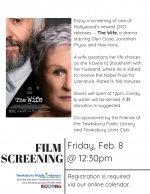 Film Screening:  The Wife