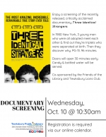 Documentary Screening: Three Identical Strangers