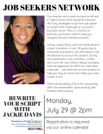 Tewksbury Job Seekers Network: Rewrite Your Script with Jackie Davis