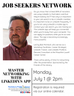 Tewksbury Job Seekers Network: Master Online Networking with LinkedIn's Mobile App with Bob McIntosh