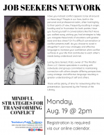 Tewksbury Job Seekers Network: Mindful Strategies For Transforming Conflict