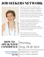 Tewksbury Job Seekers Network: How To Speak With Confidence