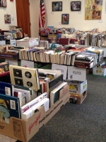 Friends of the Library Book Sale Set Up