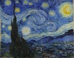 Starry night painting by Vincent Van Gogh