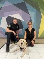 Officer Jen, Officer Ryan & Charlee the Community Resource Dog