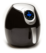 Black Air Fryer on a White Background
