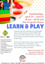 Learn & Play, Ages 5 and under
