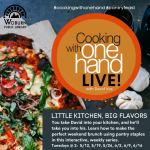 Cooking With One Hand LIVE: An interactive weekly cooking series