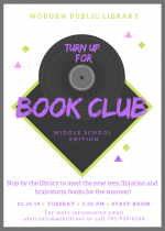 Middle School Book Club: Meet the New Teen Librarian!