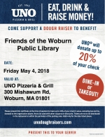 WPL Friends Fundraiser at Uno Pizzeria & Grill in Woburn