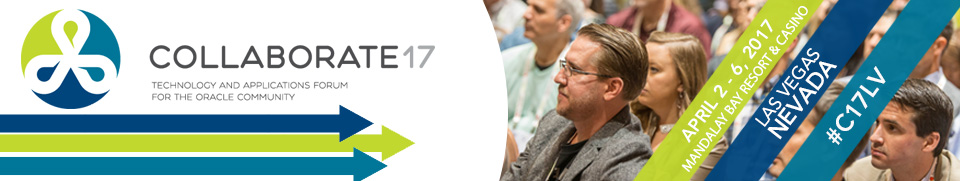 COLLABORATE 17, the technology and applications forum for the Oracle community. The Quest Forum at COLLABORATE 17 is the home for PeopleSoft, JD Edwards and Oracle Fusion users