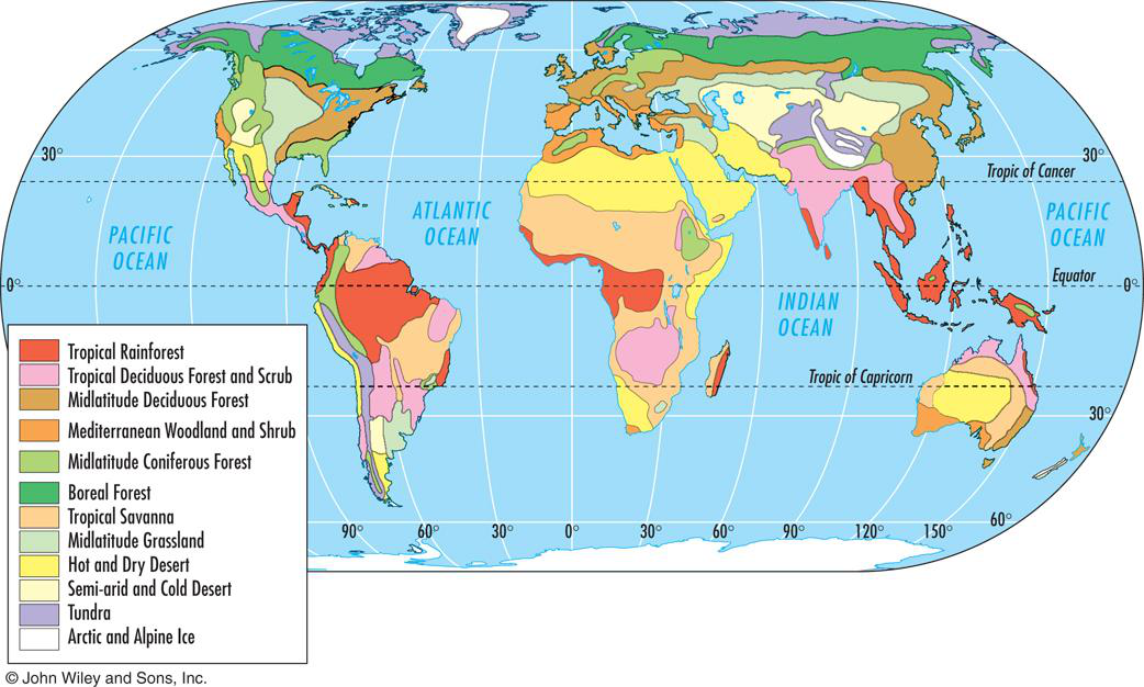 Temperate Rainforest World Map.Climate Zones And Biomes Lesson 0111 Tqa Explorer