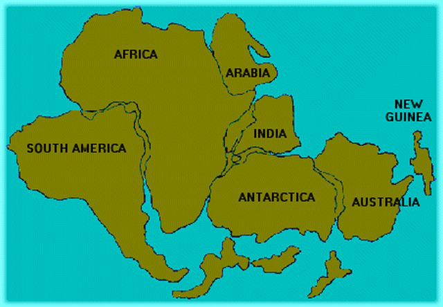 Continental Drift Lesson TQA Explorer - Australia continental map