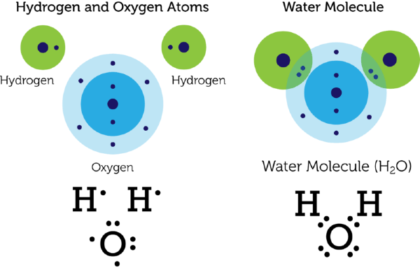 Introduction to chemical bonds lesson 0778 tqa explorer oxygen atom by sharing electrons each atom has electrons available to fill its sole or outer energy level this gives it a more stable arrangement of sciox Gallery