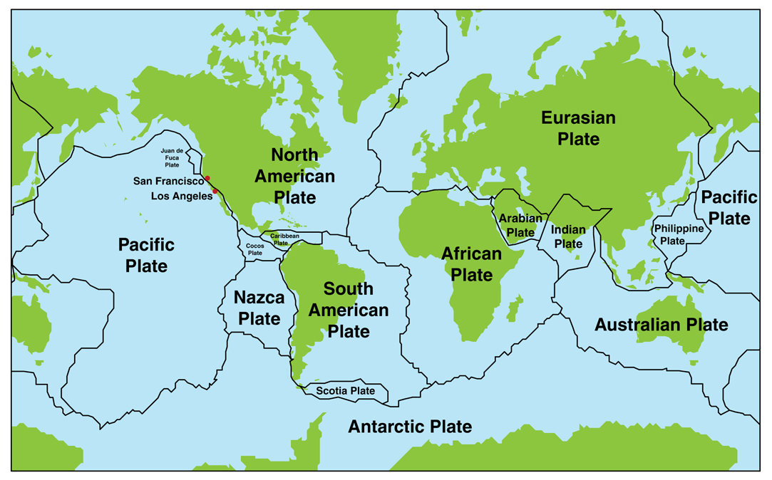 Theory Of Plate Tectonics Lesson TQA Explorer - Plates map