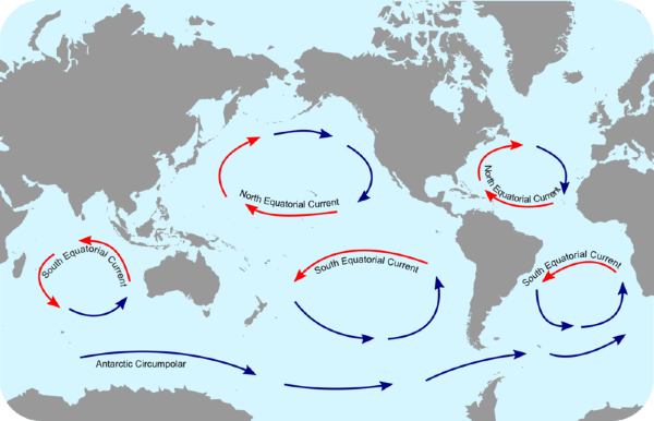 Major Ocean Currents Of The World Map.Surface Ocean Currents Lesson 0322 Tqa Explorer