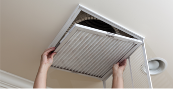 Replacing an air filter in an overhead intake vent - filterbuy