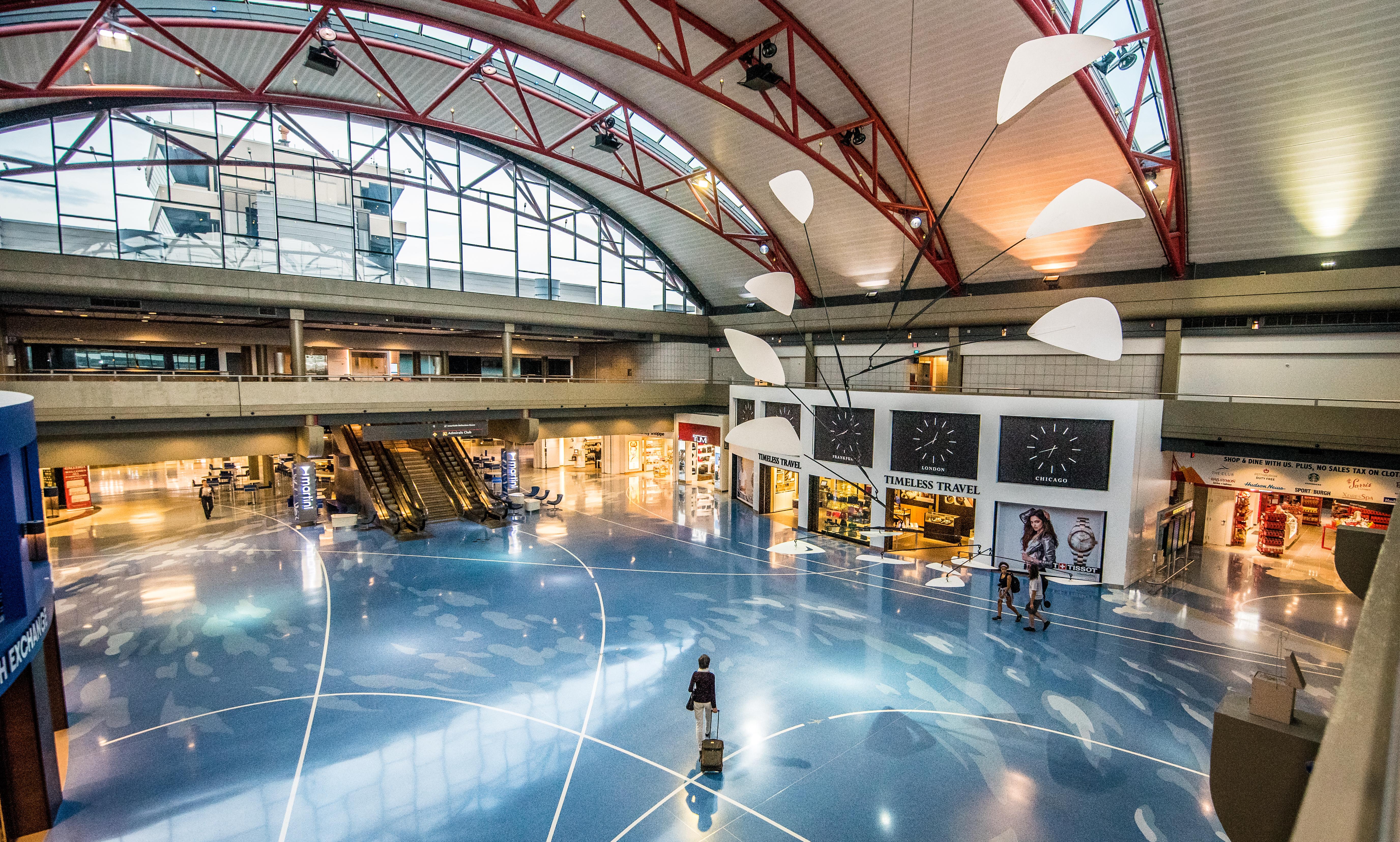 Pittsburgh airport - airside terminal