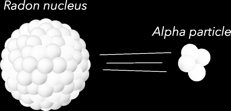 Radon Nucleus and Alpha Particle Emission