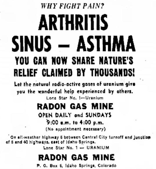 advertisement 1953 radon healing