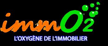NOUVEAU LOGO IMMO2 - version site oxygène en blanc