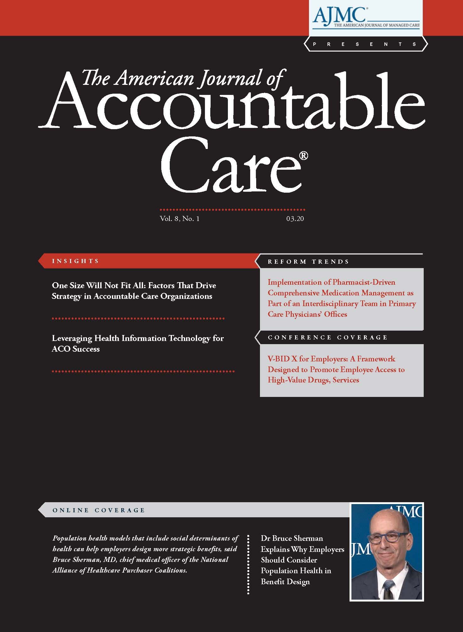 Cover of The American Journal of Accountable Care