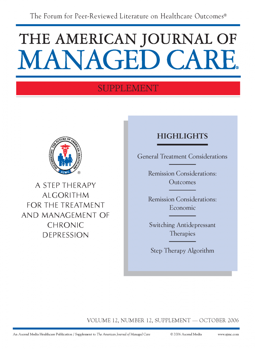 A Step Therapy Algorithm for the Treatment and Management of Chronic Depression