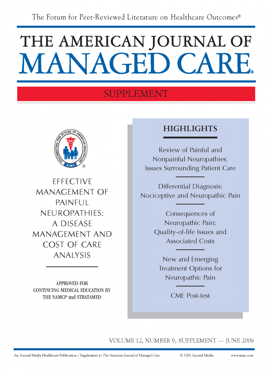 Effective Management of Painful Neuropathies: A Disease Management and Cost of Care Analysis