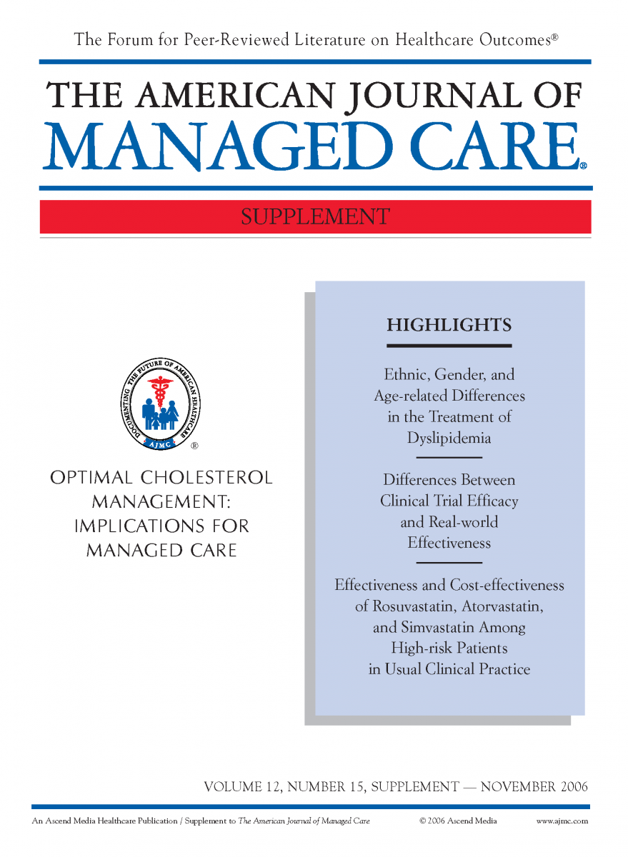 Optimal Cholesterol Management: Implications for Managed Care