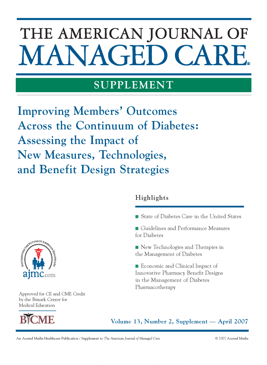Improving Members' Outcomes Across the Continuum of Diabetes: Assessing the Impact of New Measures, Technologies, and Benefit Design Strategies