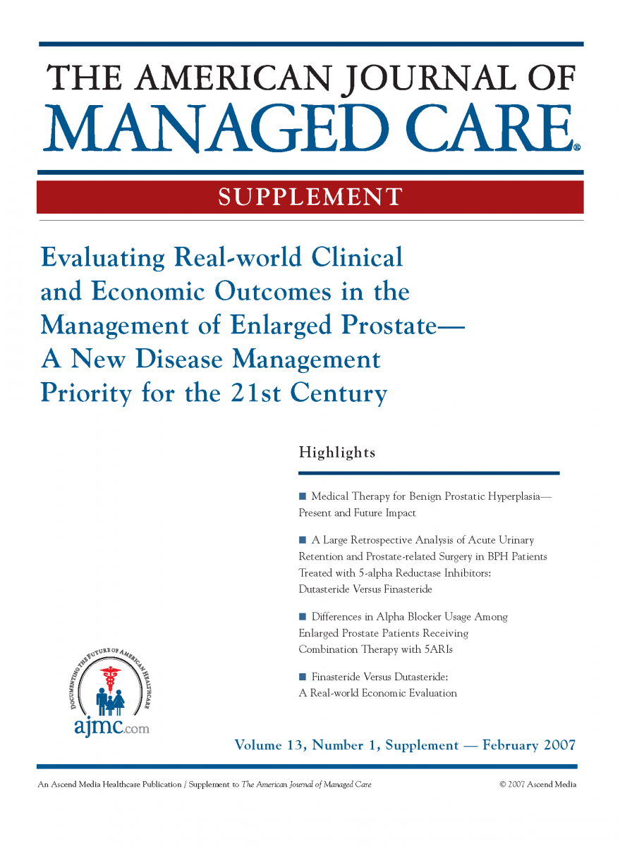 Evaluating Real-world Clinical and Economic Outcomes in the Management of Enlarged Prostate - A New Disease Management Priority for the 21st Century