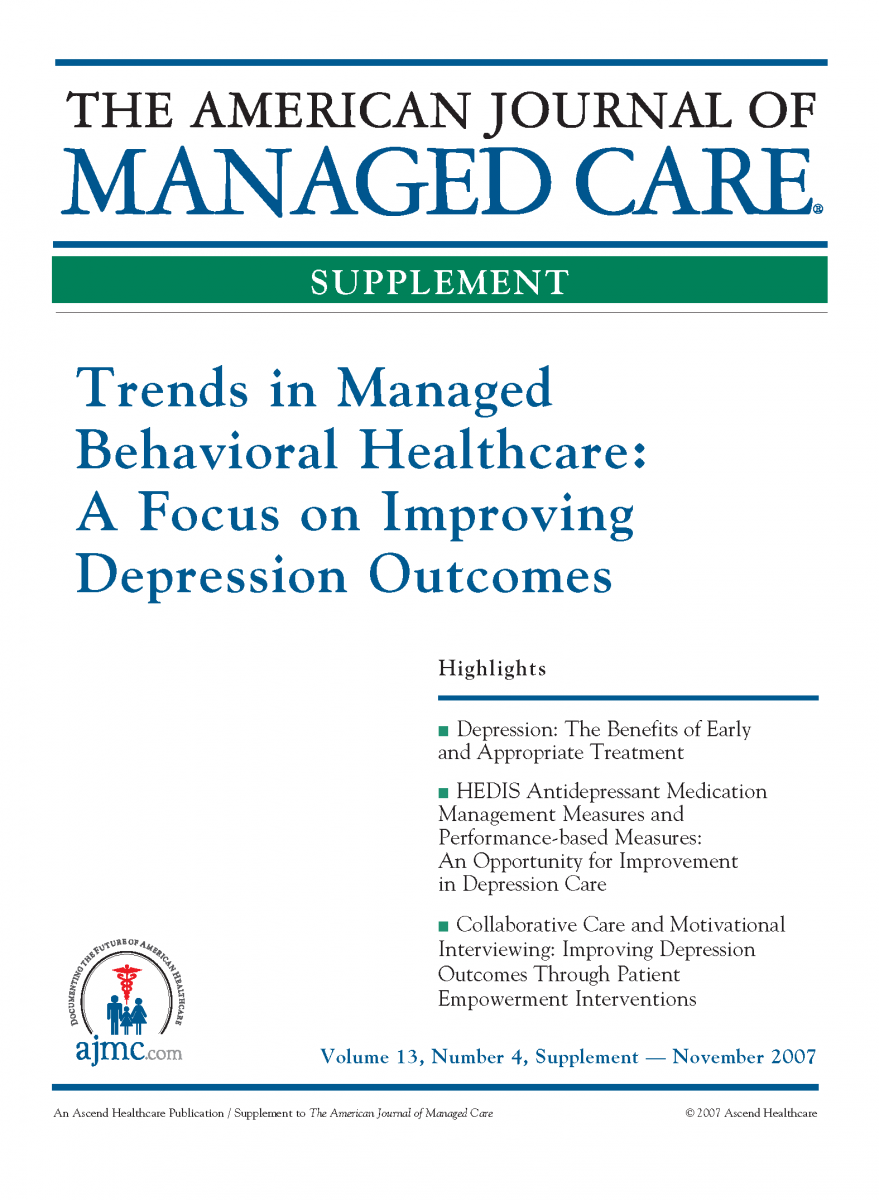 Trends in Managed Behavioral Healthcare: A Focus on Improving Depression Outcomes