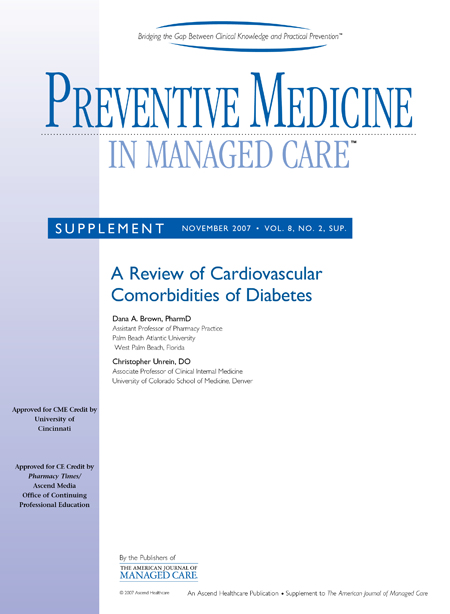 Preventive Medicine in Managed Care - A Review of Cardiovascular Comorbidities of Diabetes