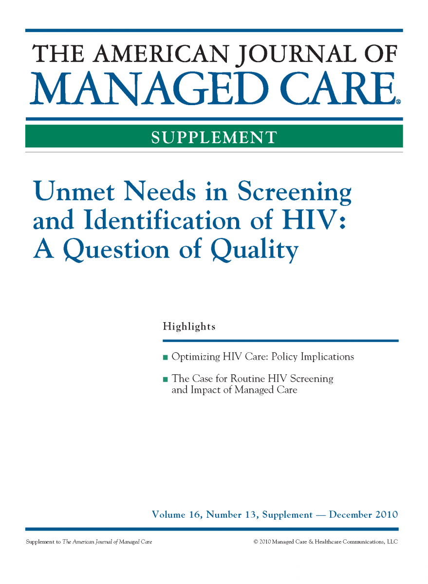 Unmet Needs in Screening and Identification of HIV: A Question of Quality