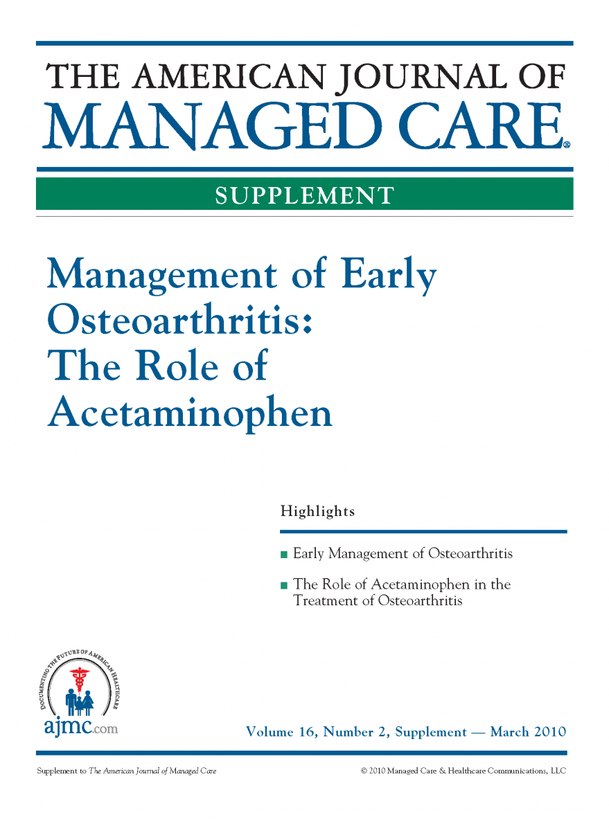 Management of Early Osteoarthritis: The Role of Acetaminophen